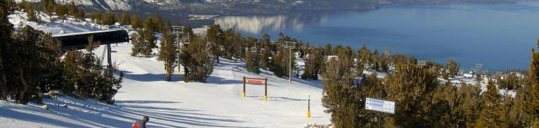 skiing at lake tahoe resort